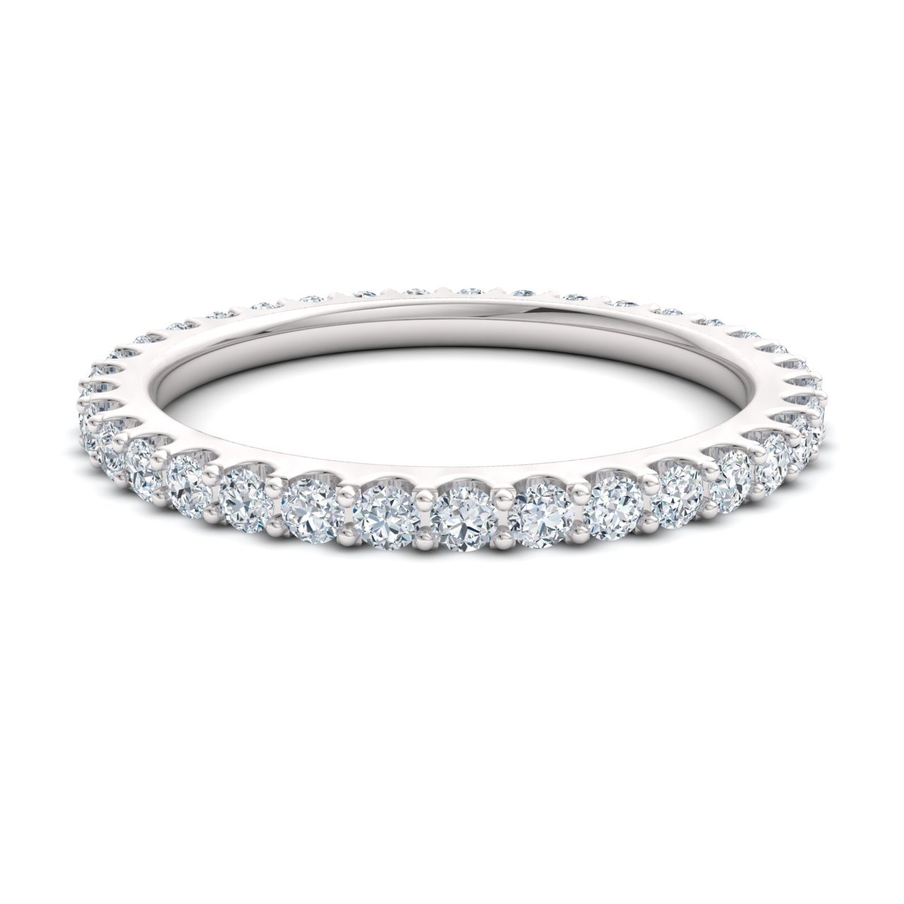 Diamondere Natural and Certified Diamond Wedding Ring in 14K White Gold | 0.79 Carat Full Eternity Stackable Band for Women, US Size 5.5 by Diamondere (Image #2)