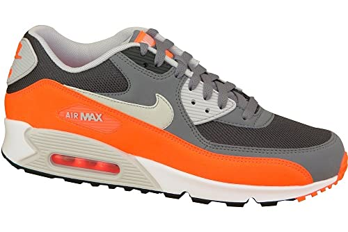 22f7e52b88e27 Nike Air Max 90 Essential Schuhe Cool Grey-Pure Platinum-Total Orange-Anthracite  - 42  Amazon.co.uk  Shoes   Bags