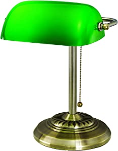 V-LIGHT with Replaceable LED Bulb Task Lamp, Antique Brass (8B101AB)