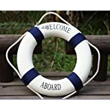 HeroNeo® Decorative Welcome Aboard Nautical Lifebuoy Ring Wall Hanging Home Dec...