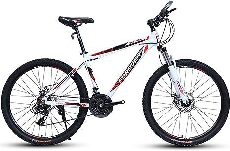HECHEN Bicicleta - Bicicleta de montaña de 27/30 de Velocidad para Adultos - 26 Pulgadas para Hombres y Mujeres Que hablaban en una Bicicleta móvil de Rueda,26in30speedwhite: Amazon.es: Deportes y aire libre