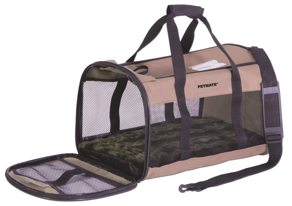 Petmate Soft-Sided Kennel Cab Small Pet Carrier Two Easy-Open Doors 3 Stylish Colors 2 Sizes