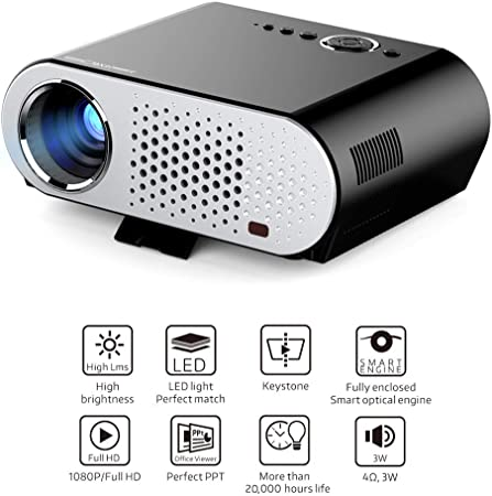 Proyector GP90UP 3200 lúmenes proyectores 1280 * 768 Android Bluetooth WiFi Mini Beamer Soporte Airplay Miracast AC3 LED TV,UK: Amazon.es: Hogar