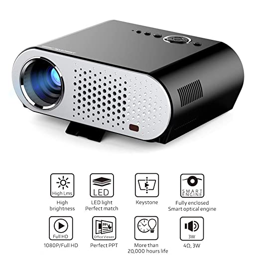 Proyector GP90UP 3200 lúmenes proyectores 1280 * 768 Android ...