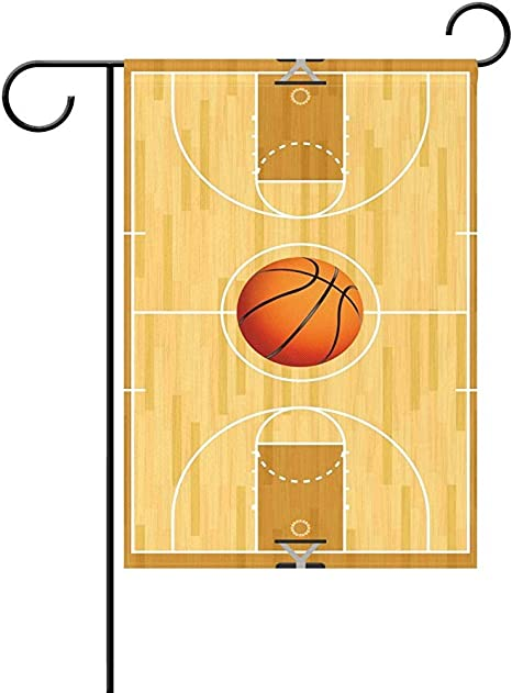 Starotor Garden Flag Basketball Court Ball Wooden 12 X 18 Inches Polyester Outdoor Flag Home Party Amazon Co Uk Garden Outdoors