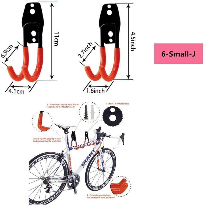 /échelles 3-H Crochets Utilitaires de Rangement pour Garage objets lourds v/élos jardin cordes Crochets Muraux Robustes pour le Rangement des outils /électriques