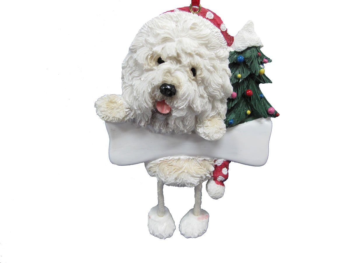 Old English Sheepdog Ornament With Unique Dangling Legs Hand Painted And Easily Personalized Christmas Ornament