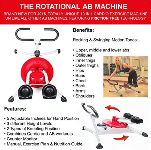 Nuevo 2016 la RAM – rotación Ab máquina de ejercicio Twist entrenador Fitness máquina de ejercicio gimnasio en casa cuerpo tono Shape Up Sculpt construir pregunto núcleo fuerza Abdominal quemar grasa rápido