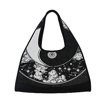 Amazon.com: Bolsa de yoga romántica china Yin Yang negra ...