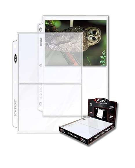100 Card 2-Pocket Album Pages 5 X 7 Binder Sheets Prints
