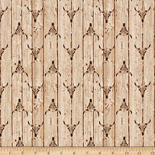 Windham Fabrics Ranch Hands Longhorn, Cream (Longhorn Ranch)