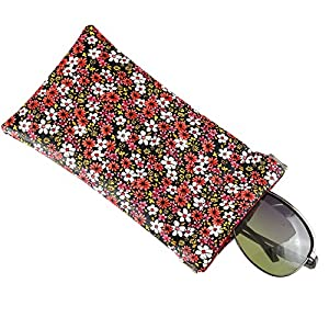 A Sund Women Sunglasses Case Eyeglasses Pouch Goggles Holder with Cleaning Cloth for Woman Kids(10#)