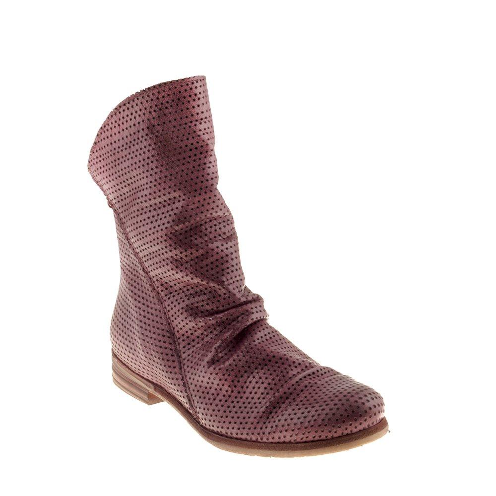 Felmini Damen Schuhe - Verlieben Alfa A176 - Cowboy & Biker Stiefel - Echtes Leder - Bordeaux