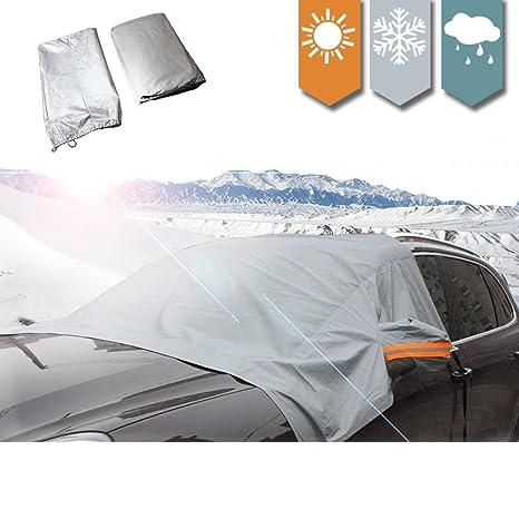 allspes magnética parabrisas cubierta de nieve elástico con ganchos fijos cuatro ruedas & reflectante advertencia Barra