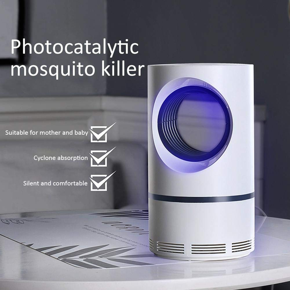 Riverry Lampe de Tueur d'insecte de Moustique Ultraviolet de Basse Tension, Type environnant Rechargeable par USB Lampe de Tueur de Moustique énergie économiseuse d'énergie silencieuse Saine Efficace