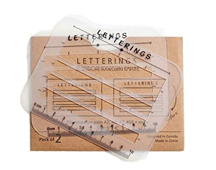 envelope and address stencil ruler guide and template for writing calligraphy recipe cards