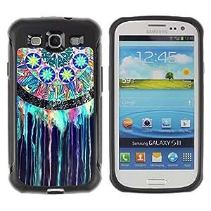 """Pulsar iFace Series Tpu silicona Carcasa Funda Case para Samsung Galaxy S3 III I9300 , Colector ideal indio del vitral de la acuarela"""""""
