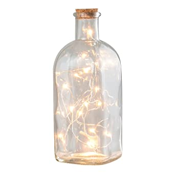 Lámpara de mesa en forma de una Vintage Clásica de frascos de farmacia, verkorkt,