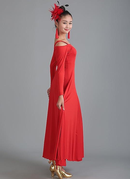 Amazon.com: nakokou vestidos de baile moderno Vals Tango ...