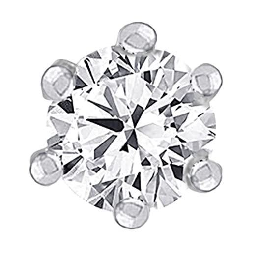 Amazon Com 2 4mm Real Solitaire Diamond Nose Lip Labret Screw