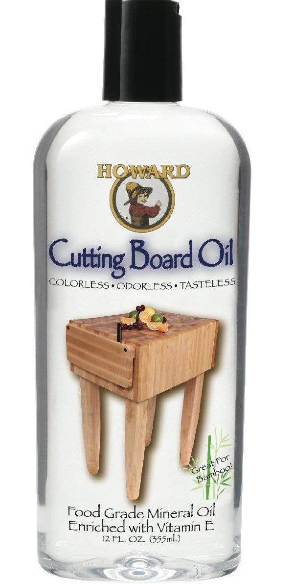 Howard Products BBB012 Cutting Board Oil, 12 oz - 4 PACK