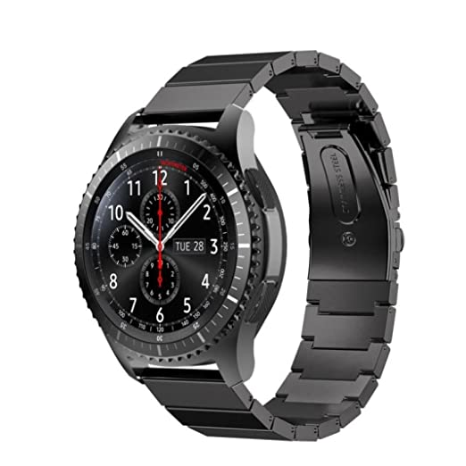 For Samsung Gear S3 Frontier Wristband,Sunfei Stainless Steel Watch Band Strap Metal Clasp