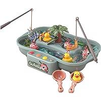 Lovyan Water Circulating Fishing Game Board Play Set with 3 Ducks,3 Fish,2 Water ladles and 2 Fishing Poles, Electronic…