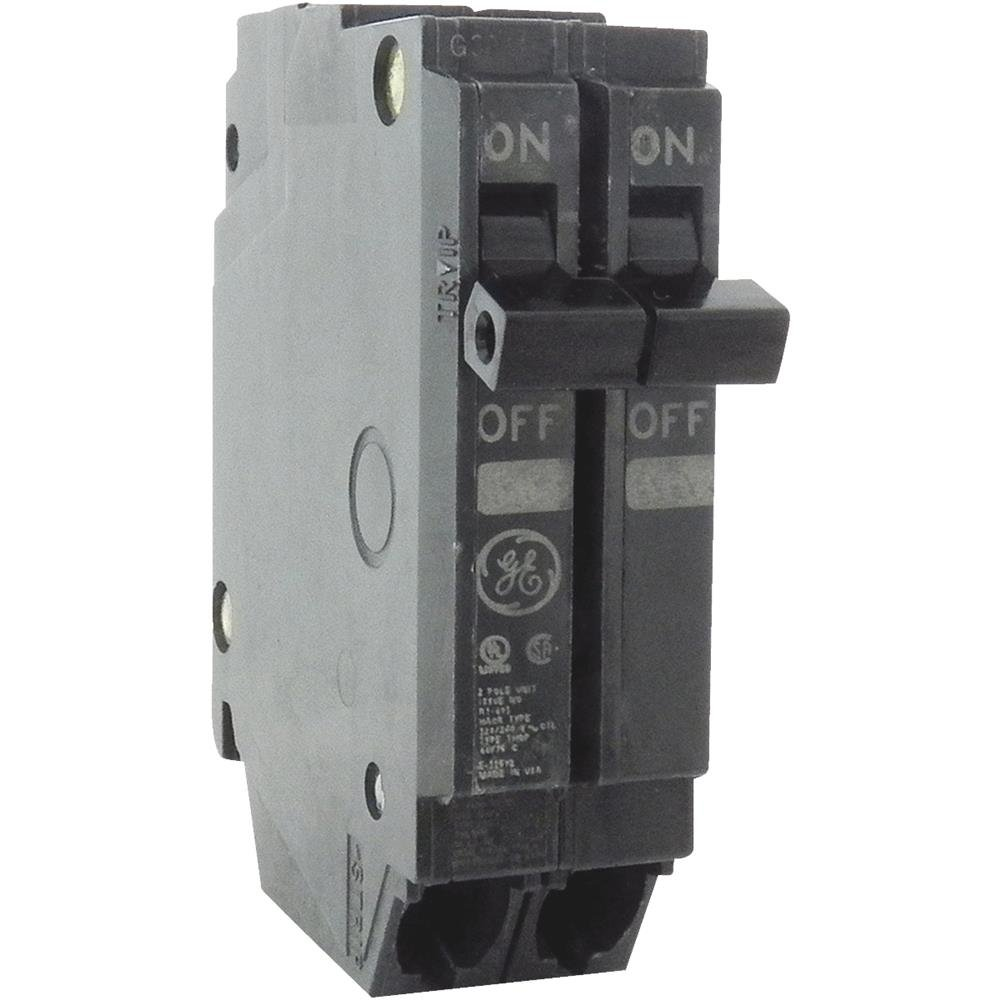 General Electric Thqp215 Circuit Breaker 2 Pole 15 Amp Thin Series Murray 20 In Doublepole Gfci