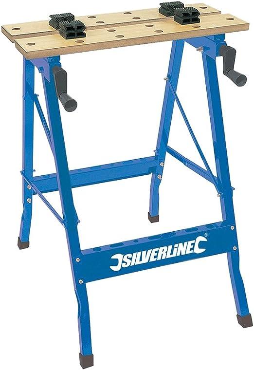 Silverline TB01 Banco de trabajo plegable 100 kg: Amazon.es ...
