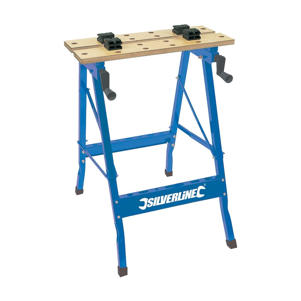 Silverline TB01 Portable Workbench, 100 kg: Amazon.co.uk: DIY & Tools