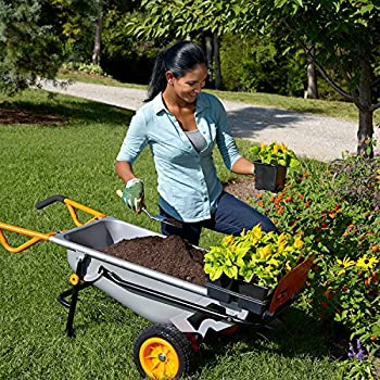 Worx Aerocart Multifunction 2-wheeled Yard Cart, Dolly, & Wheelbarrow With Flat Free Tires - Wg050 11