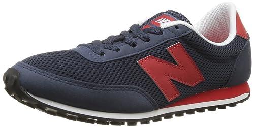 New Balance U410 D 14E Sneaker unisex adulto Dunkelblau Rot 44.5