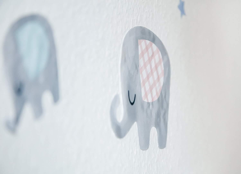 Wandsticker MEGA-SET Blaue Elefanten Wandaufkleber Wandtattoo Tiere Fuchs B/är Indianer Kinderzimmer Babyzimmer Kinder Baby M/ädchen Junge Tapetensticker Viele Motive