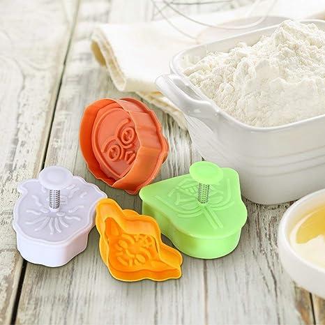 LANYUER 4 piezas Star Wars Cortadores de galletas decorativos para tartas molde decoración fondant Sugarcraft moldes