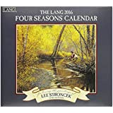 Lang Four Seasons 2016 Wall Calendar by Lee Stroncek, January 2016 to December 2016, 13.375 x 24 Inches (1001911)