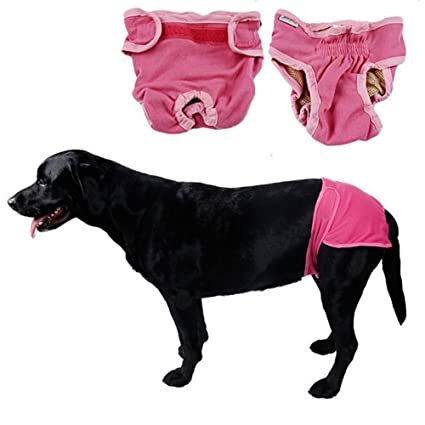 Yueunishi Dog Pants, Female Dog Physiological Pants, Diapers, Pet Clothes, Dog Menstrual Pants Puppy Diaper Nursing Reusable and Washable Nappies for ...