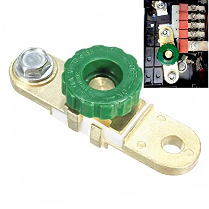 Qiorange Battery Disconnect Switch Cut-off Terminal Link for Car Truck Auto  Vehicle Parts (Type G Set Green)
