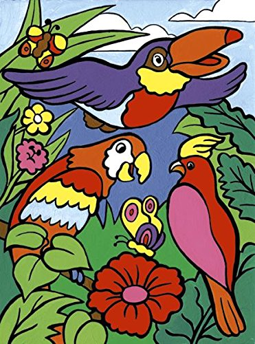 Royal Brush My First Paint by Number Kit, 8.75 by 11.375-Inch, Birds MFP-7
