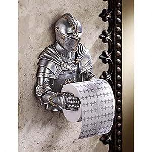 Design Toscano A Knight to Remember Gothic Bath Tissue Holder