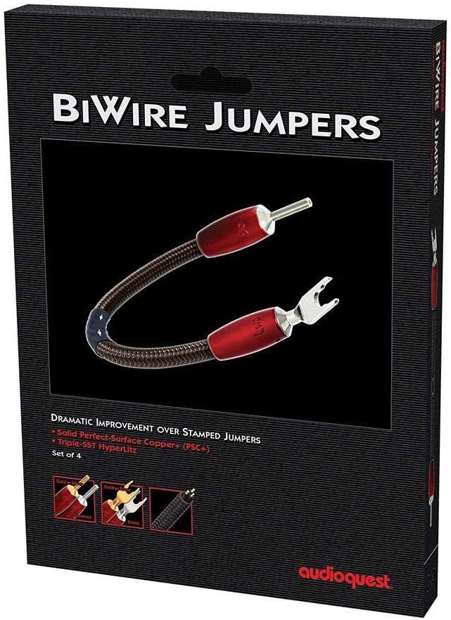 - Set of 4 Spade to Spade Audioquest Saturn BiWire Jumpers Copper+ PSC+