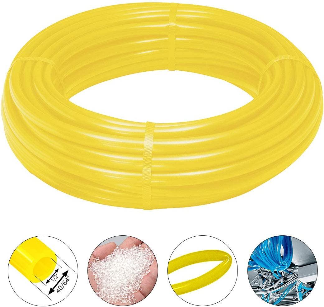 Beduan Pneumatic Air Tubing Pipe Black 3//16 ID PU Air Compressor Hose Line Tube for Fluid Transfer Tool 39.4ft 12Meter
