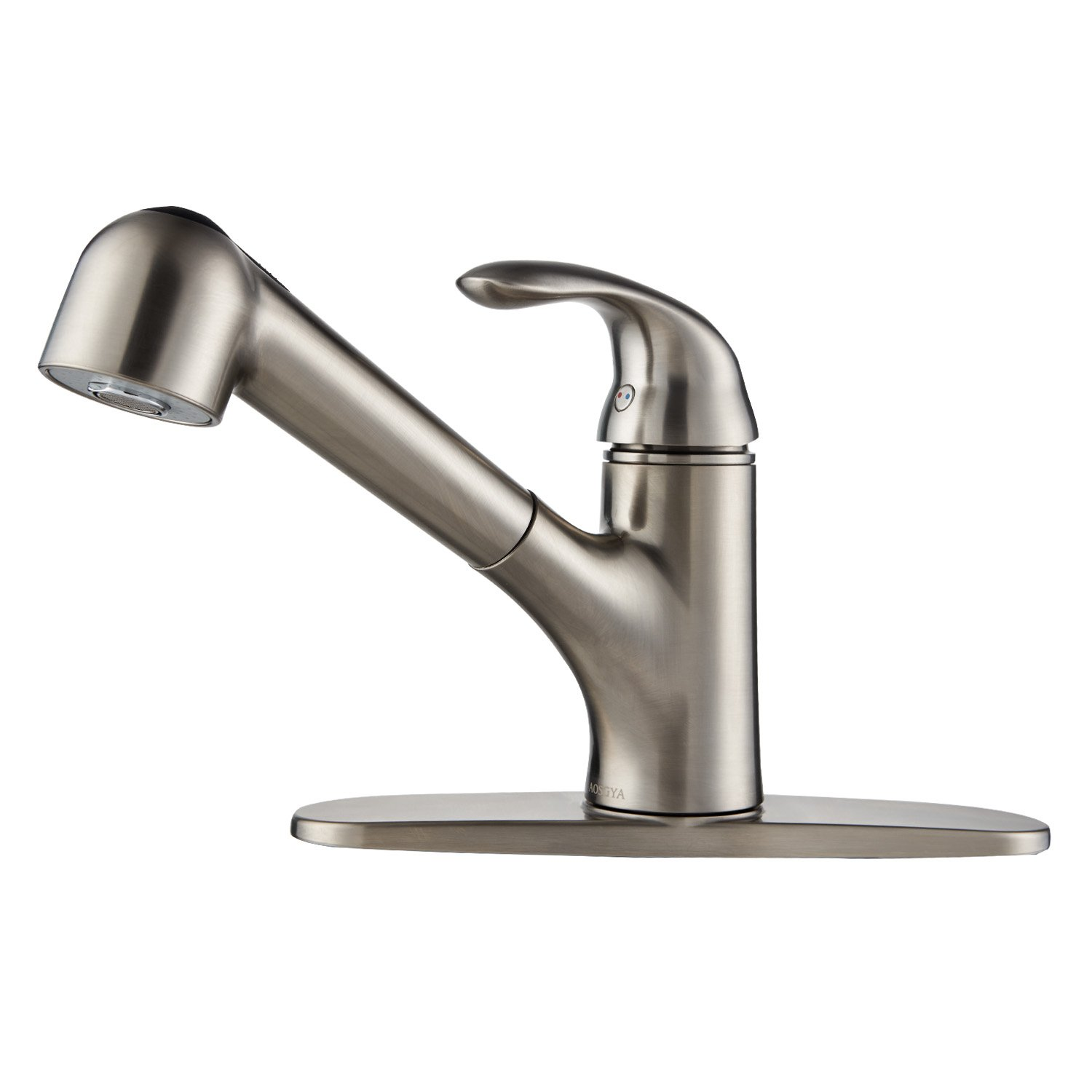 AOSGYA Pull Out Kitchen Faucet - Single Handle Kitchen Sink Faucet with Pull Down Sprayer Brushed Nickel 1 or 3 Holes, cUPC Certified Lead-Free