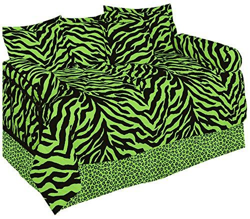Karin Maki Zebra Daybed Set, Lime