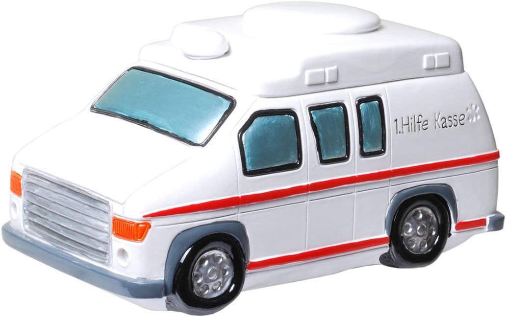 Topshop24you wundersch/öne Spardose,Sparb/üchse,Sparschwein Krankenwagen,Ambulanz 1 Hilfe Kasse