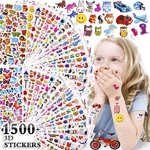 KeNeer 1500+ Stickers for Kids Including Number Emoji Animal