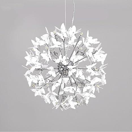 19.7 inch Sputnik Chandelier Creative LED Butterfly Ceiling Lamp 24 ...