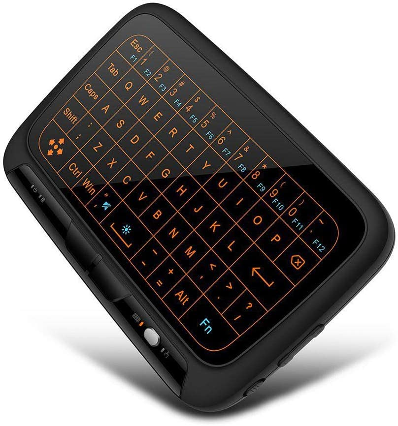 Aceyyk 2.4Ghz Mini Wireless Mouse Keyboard,Backlit USB Wireless Touch Keyboard Mouse with Whole Panel Touchpad for Smart TV Android TV Boxes PC Tabletsotg Notebooks Xbox