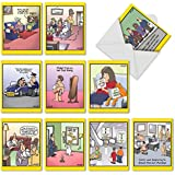 M6463OCB The Duplex: 10 Assorted Blank All-Occasion Note Cards Featuring an Assortment of Favorite and Funny Tim Whyatt Cartoons,w/White Envelopes.