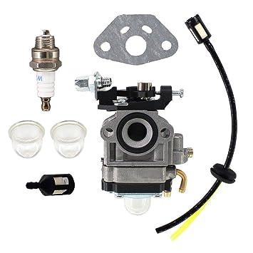 Carburetors & Parts HURI Carburetor with Spark Plug Fuel Line for
