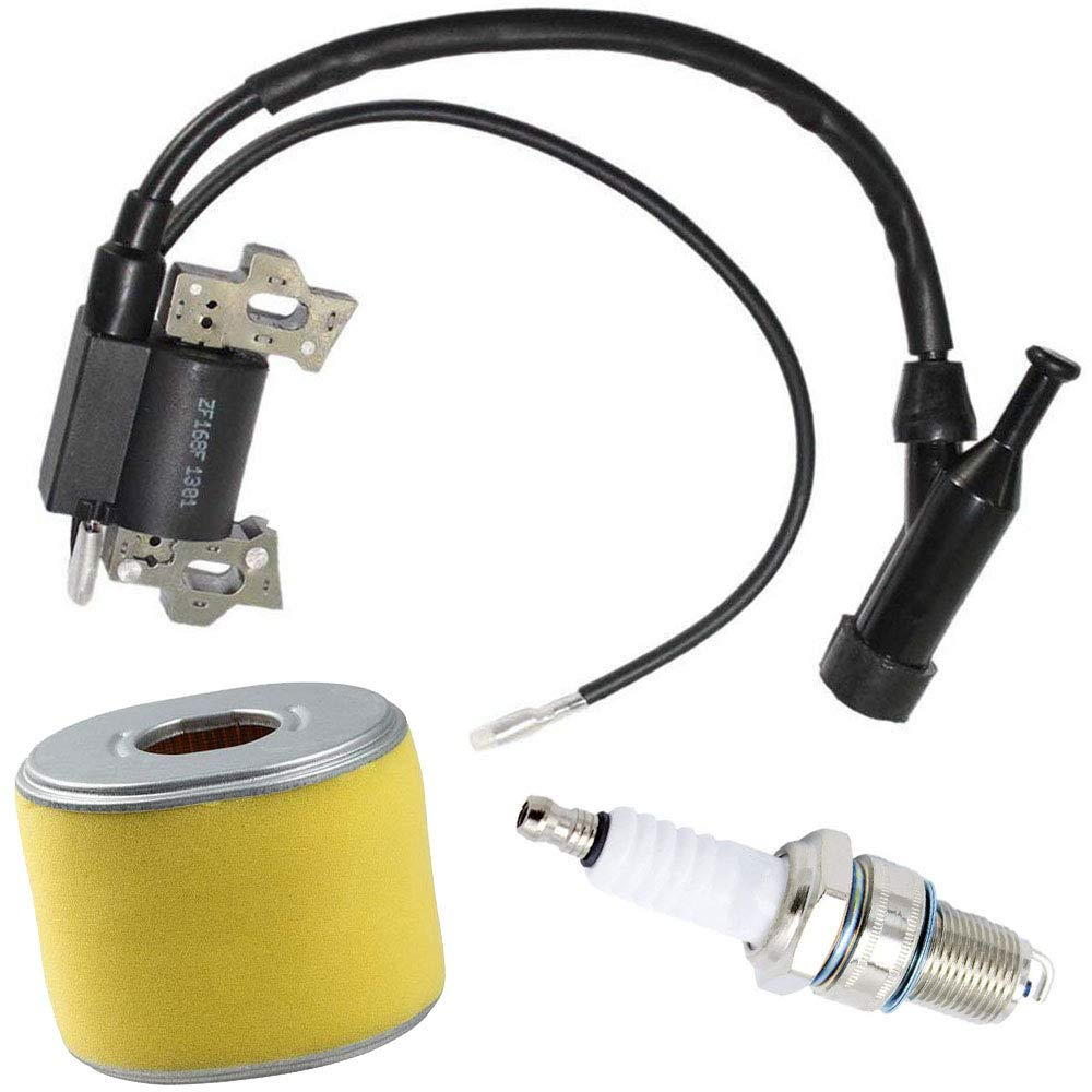 Ignition Coil For Honda GX120 GX160 GX200 Engine Generator Rototiller 4589693 30500-ZE1-073 with Spark Plug Air Filter by TOPEMAI